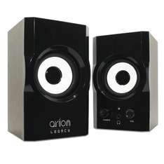 Amazon: Arion Legacy AR302-BK AC Powered 2.0 Desktop PC Speakers - Black, 12 Watts