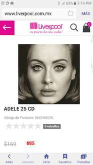 Liverpool: Adele 25 CD a $85