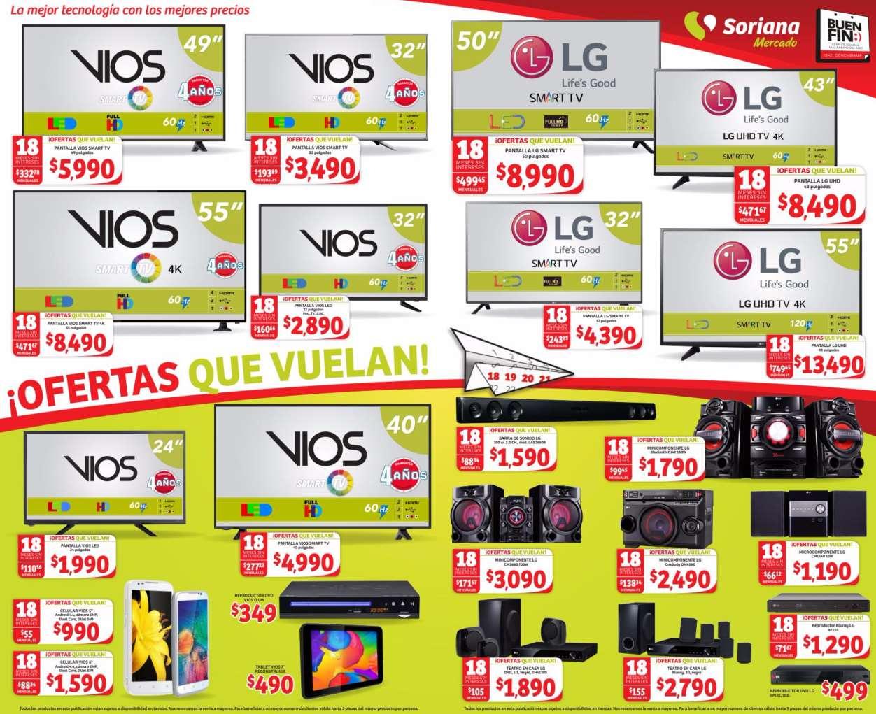Folleto de ofertas del Buen Fin 2016 en Mercado Soriana