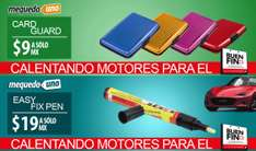 MeQuedoUno: Carteras Card Guard varios colores de $109 a $9; Easy Fix Pen Quita Rayones de $199 a $19