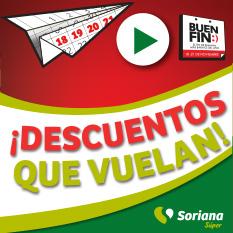 Soriana Súper: Folleto de Ofertas Buen Fin 2016: 3 x 2, 2 x 1 ½, 4 x 3, descuentos, dinero electrónico y más