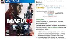 Amazon: Mafia III para PS4 y Xbox One a $607 con envio gratis!!!