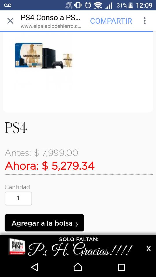 Palacio de Hierro: consola PS4 edición Uncharted colección