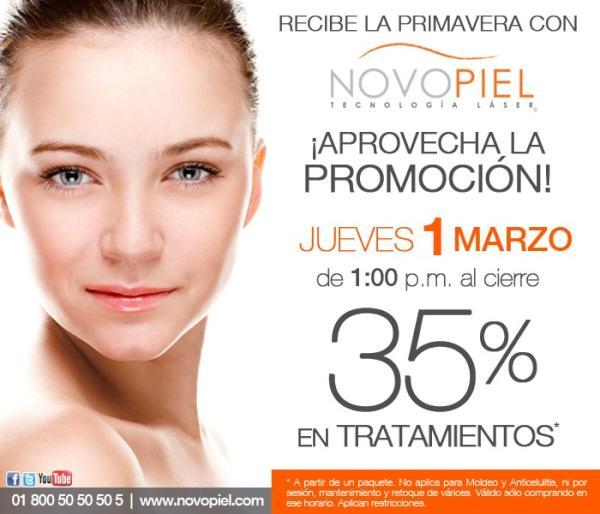 Novopiel: 35% de descuento en tratamientos a partir de un paquete (solo hoy)