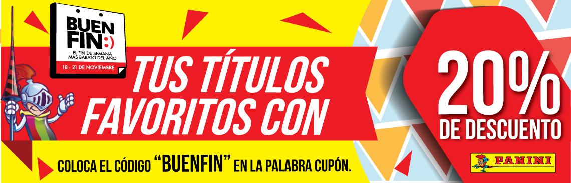 """PANINI Comics: 20% de descuento utilizando el cupon """"BUENFIN"""""""