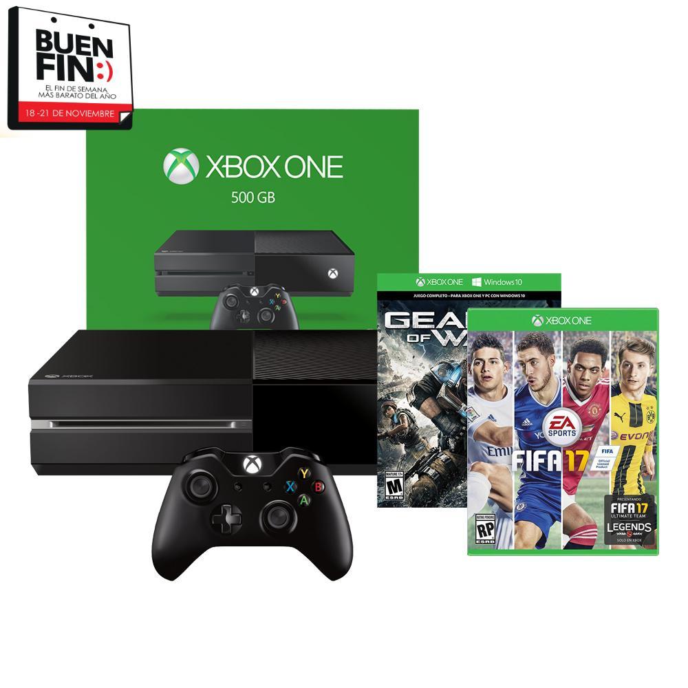El Buen Fin 2016 en Walmart: Xbox 500gb con GOW 4 descargble y FIFA 17 (físico) a $5,000 con bancomer wallet
