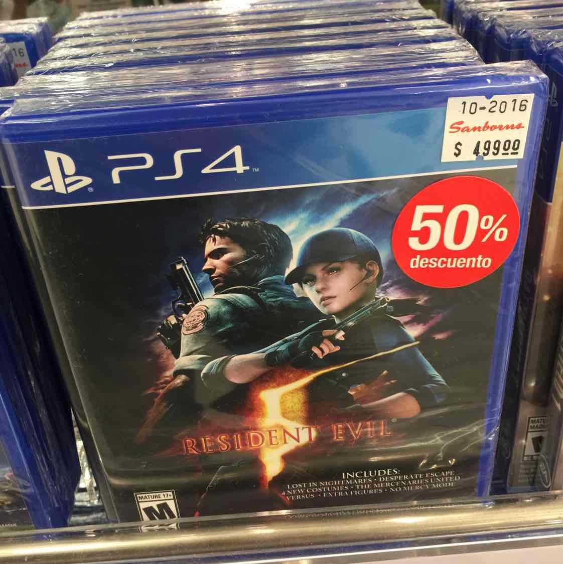 Sanborns: Resident Evil PS4