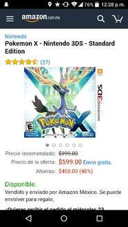 Amazon: Pokemon X - Nintendo 3DS - Standard Edition