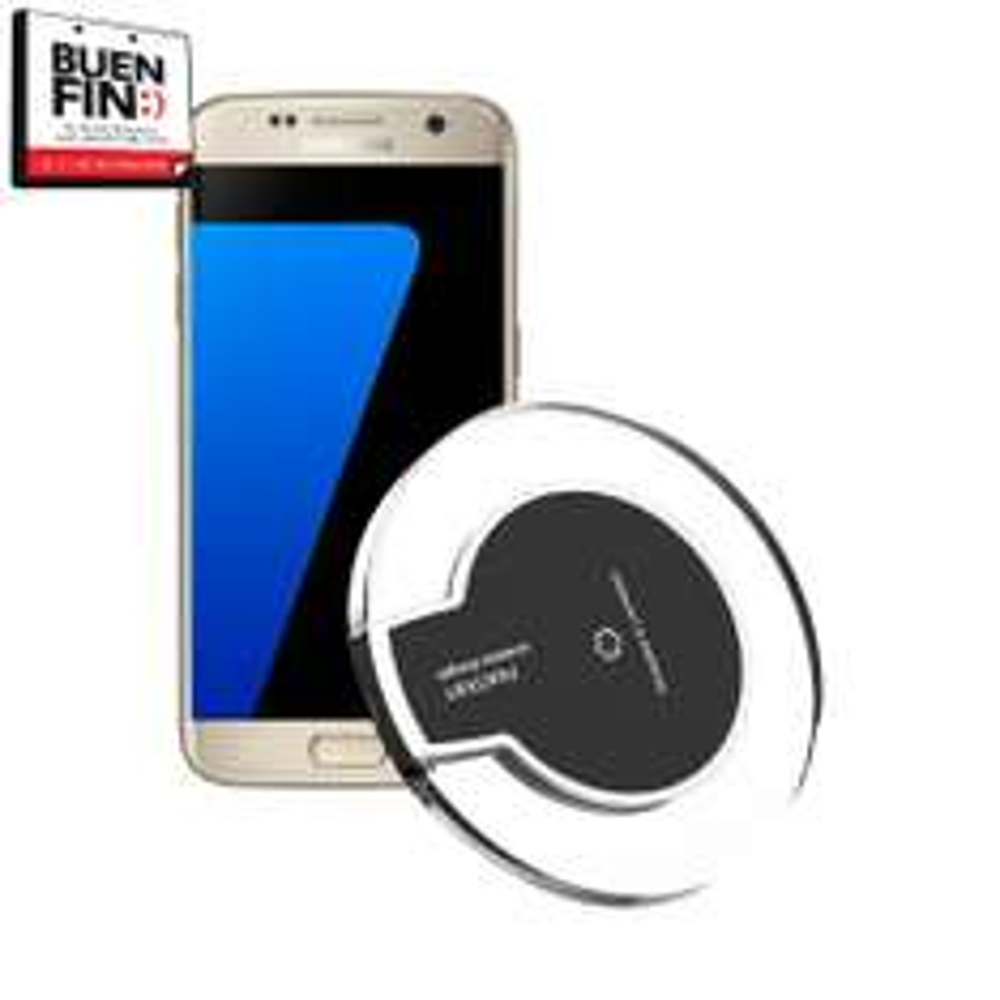 Buen Fin 2016 Walmart: Samsung Galaxy S7 Edge mas cargador inalambrico a $12,300 comprando en módulo de venta en línea.