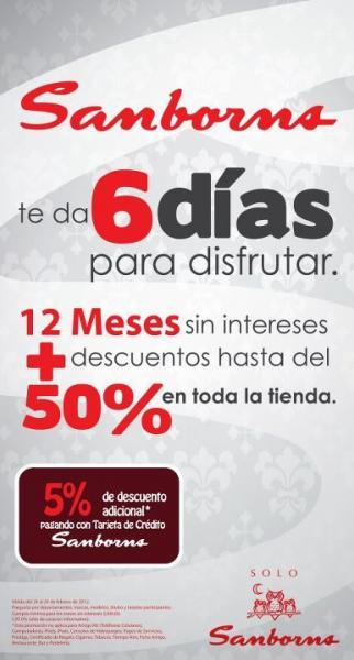 Sanborns: 12 MSI y hasta 50% de descuento en toda la tienda