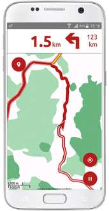 Google Play: Aplicación navegador GPS para motos calimoto