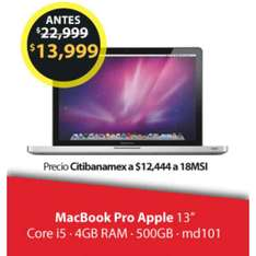Buen Fin 2016 Walmart: MacBook Pro Apple 13""