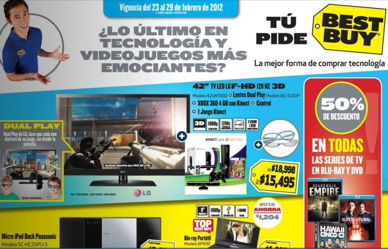 Folleto Best Buy febrero 23: 50% en series, laptop con procesador i5 a $9,495 y más