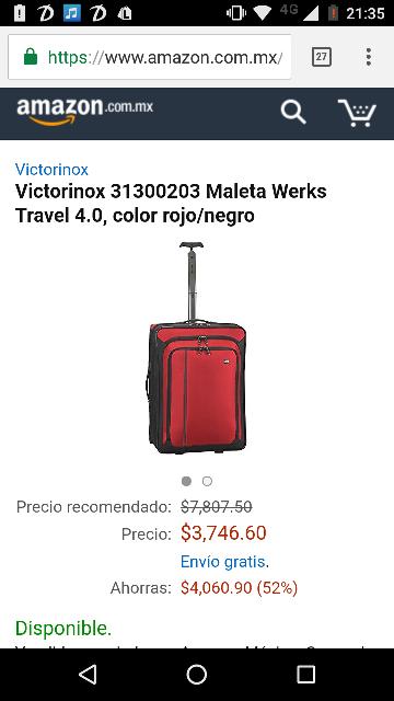 El Buen Fin 2016 en Amazon: maleta Victorinox con 52% de descuento