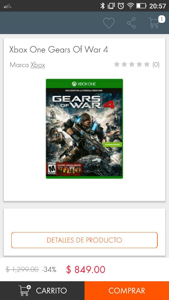El Buen Fin 2016 en Linio: Gears of War 4 para Xbox One