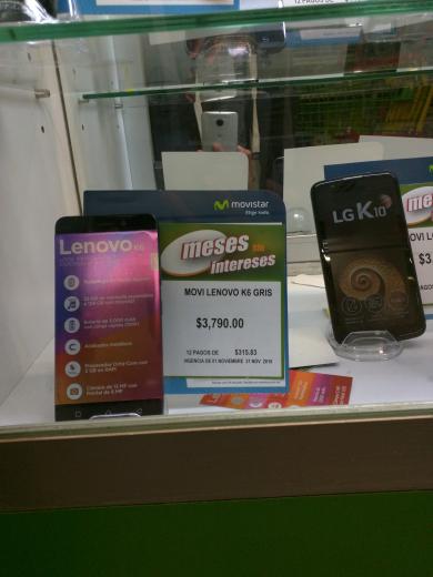 Bodega Aurrerá: lenovo k6 a $3790 con Bancomer a $3370