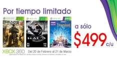 Gears of War 3, Kinect Disneyland Adventures y Halo Anniversary a $499