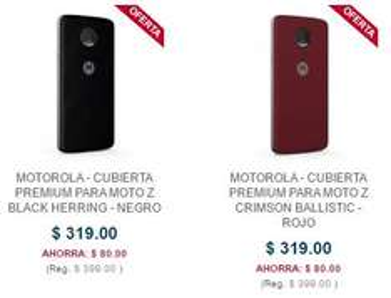 Best Buy: Promoción de cubiertas PREMIUM para MOTO Z  $319 - $399