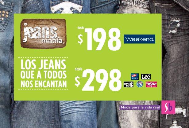 Jeansmanía en Suburbia: jeans desde $198
