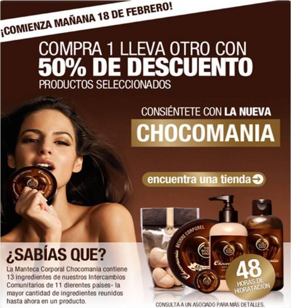 The Body Shop: 50% de descuento en la compra del segundo producto