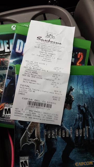 El Buen Fin en Sanborns Irapuato: juegos para PS4 y Xbox One resident evil 4 dead rising dead rising 2 al 50% mas 15% de descuento