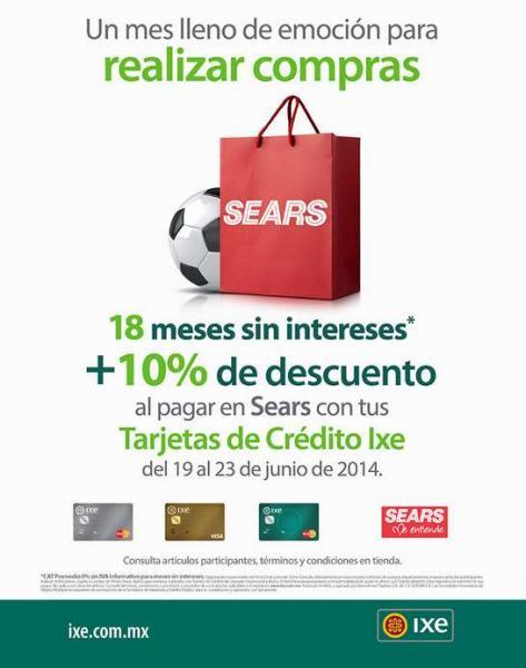 Sears: venta especial Bancomer e IXE