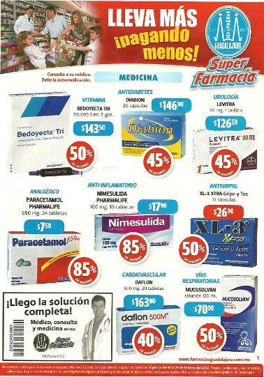 Folleto Farmacias Guadalajara febrero 16: 2x1 en shampoo Optims, Colgate Total y más