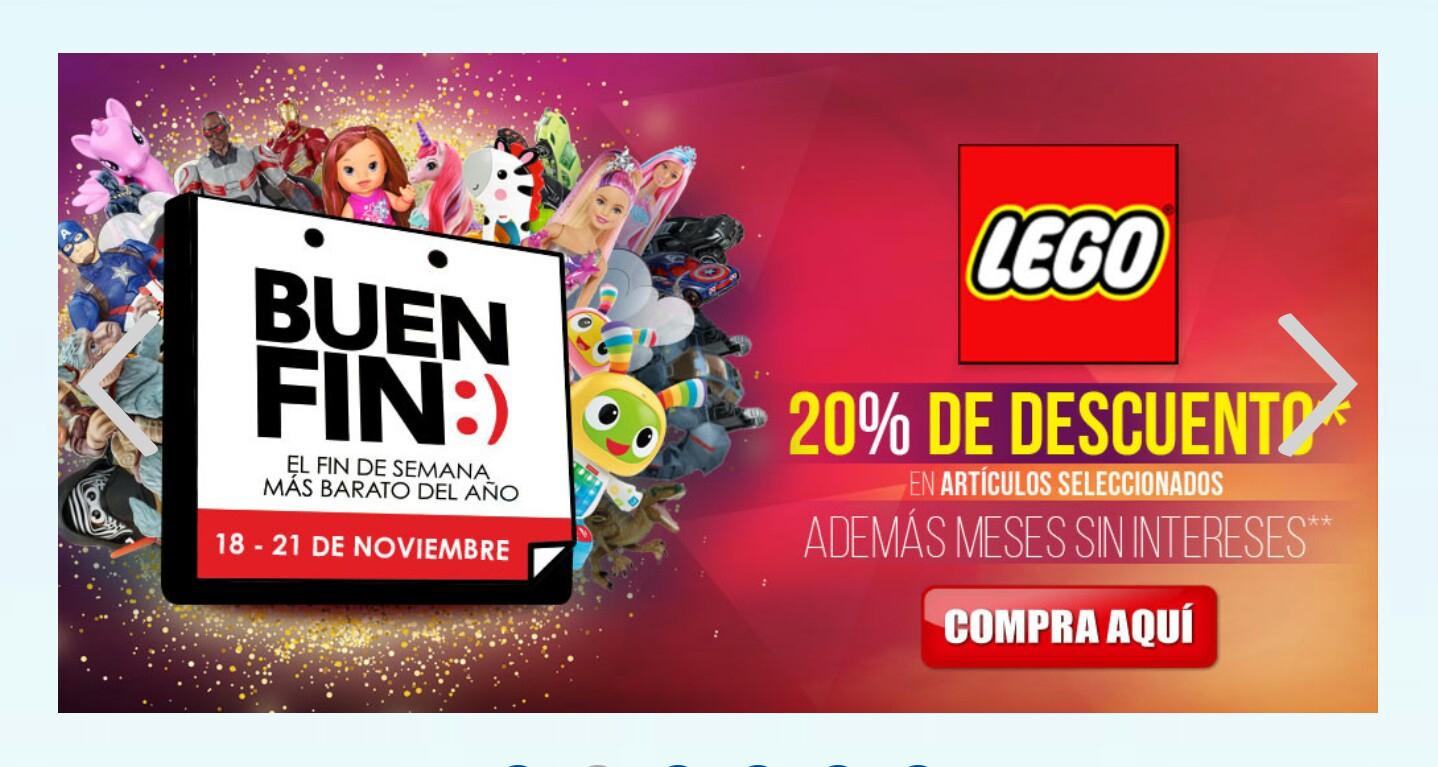El Buen Fin en Juguetibici: Productos LEGO 20% de descuento
