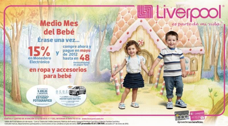 Liverpool: 15% en monedero electrónico en ropa y accesorios para bebé
