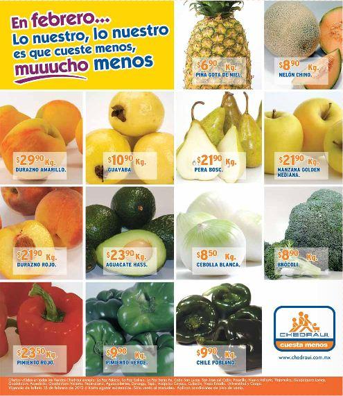Miércoles de frutas y verduras Chedraui febrero 15: piña $3.90 Kg, espinaca $2.65 pza y más
