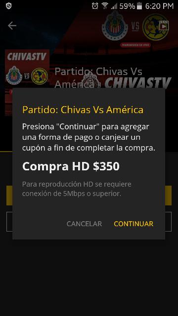 Cinepolis Klic: Preventa Chivas Vs América