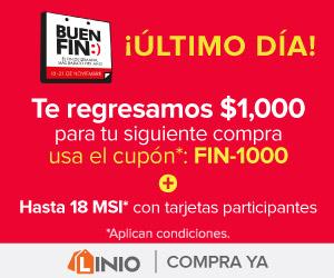 El Buen Fin 2016 en Linio: Cashback de $1,000 en compras de $3,000 ó más