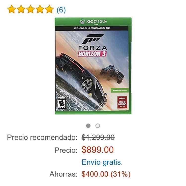 Buen Fin 2016 Amazon: Forza Horizon 3 de $1,300 a $899