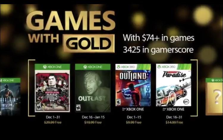 Juegos GRATIS con Xbox Live Gold para diciembre
