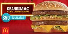 McDonald's: Grand Big Mac con 2 carnes Angus por $50 pesos