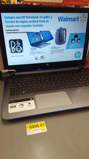 Walmart Santin: laptop HP 15Ab115 a $6,495.01