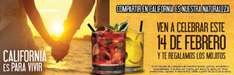 California Pizza Kitchen: 2 mojitos gratis este 14 de febrero