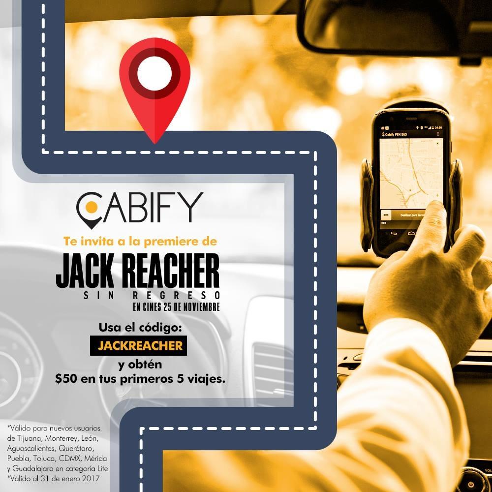 Cabify: 5 viajes de $50 para nuevos usuarios