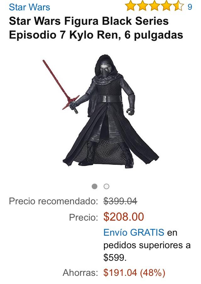"""Amazon MX: Kylo Ren 6"""" Black Series a $208"""