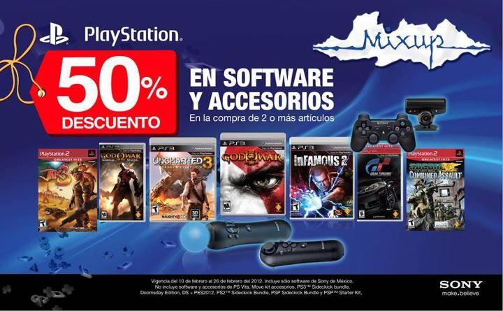 Mixup: 50% de descuento en juegos y accesorios de Sony PlayStation comprando 2 o más