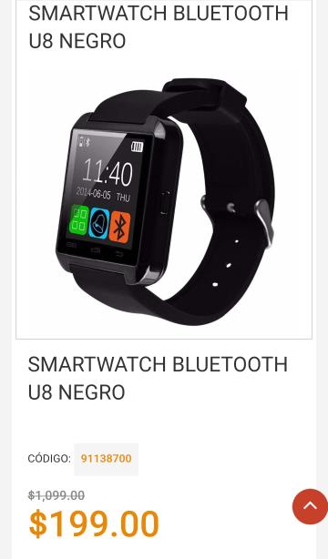 Mequedouno: Smartwatch Bluetooth de $1099.00 a $199.00