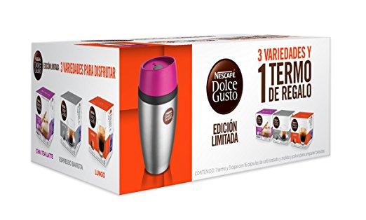 Amazon Mx: Termo y 3 cajas de Cápsulas Nescafé Dolce Gusto