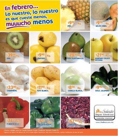 Miércoles de frutas y verduras Chedraui febrero 8: manzana $14.90 Kg, aguacate $16.90 Kg y más