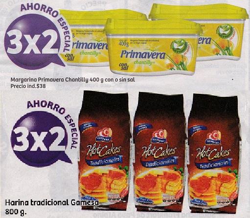 Soriana Híper: 3 x 2 en Margarina Primavera Chantilly 400 grs. con o sin sal y Harina tradicional Gamesa 800 grs.