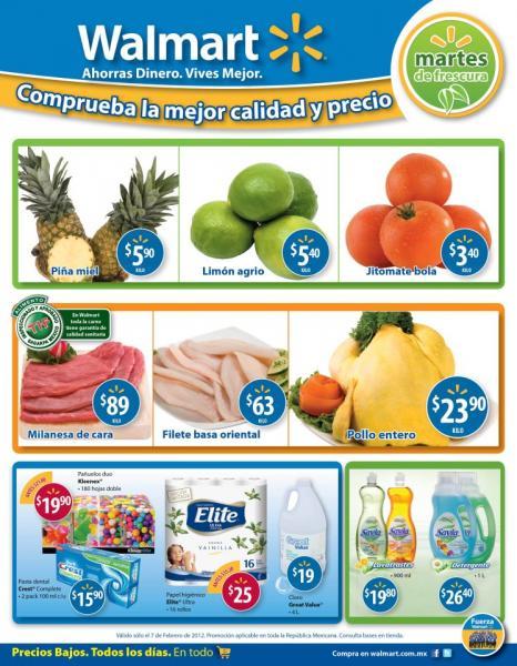 Martes de Frescura en Walmart febrero 7: jitomate $3.40 Kg, piña $5.90 Kg y más