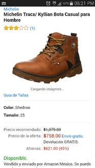Amazon: Bota Michelin a $758