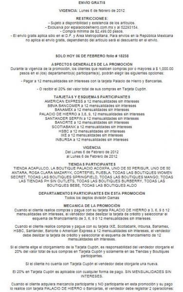 Palacio de Hierro: hasta 20% de descuento o hasta 12 MSI (solo hoy)