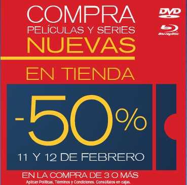 Blockbuster: 50% de descuento en pelícuas y series 11 y 12 de febrero