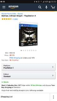Black Friday 2016 Amazon USA: Batman: Arkham Knight - PlayStation 4