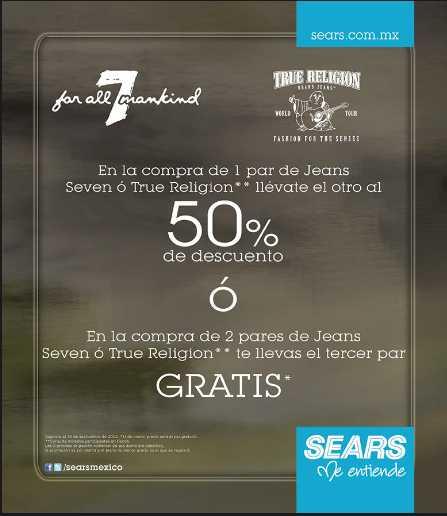 Sears: jeans Seven y True Religion segundo a mitad de precio o 3x2